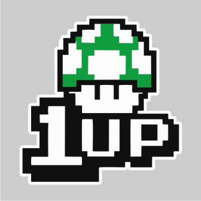 1UP grey square