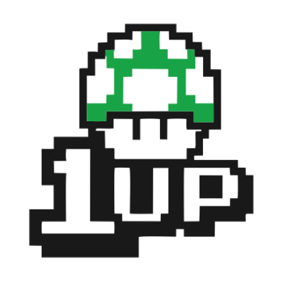 1UP white square