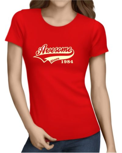 Awesome Since Ladies Red