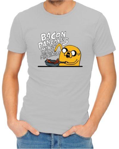 Bacon Pancakes Ladies Grey