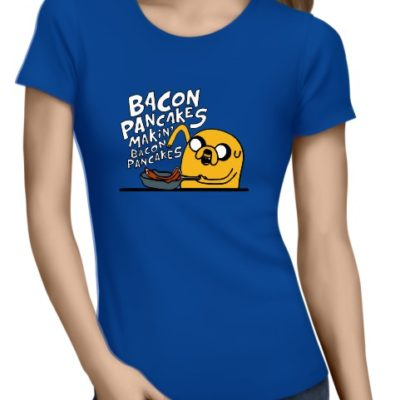 Bacon Pancakes Ladies Royal Blue