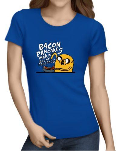 Bacon Pancakes Ladies Royal Blue
