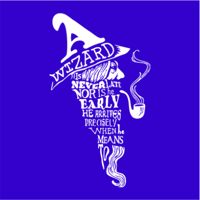 a wizard is never late blue square