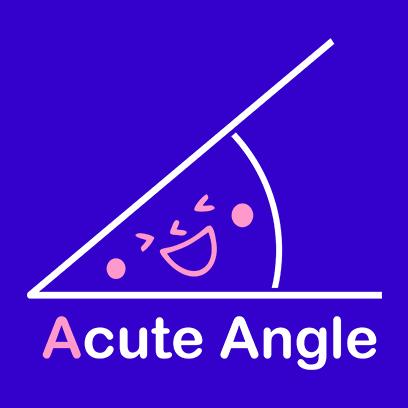acute angle blue square
