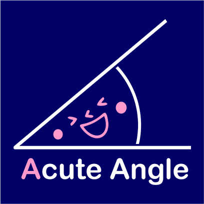 acute angle navy square