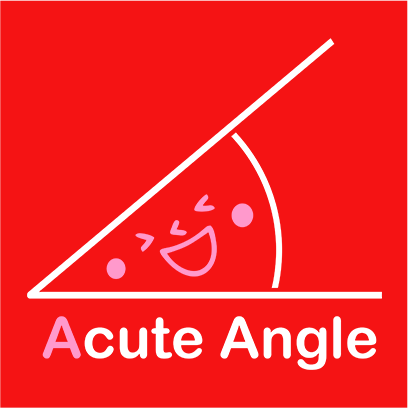 acute angle red square