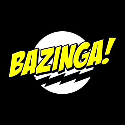 bazinga black square