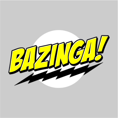 bazinga grey square