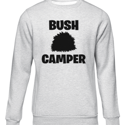 bush camper grey sweater
