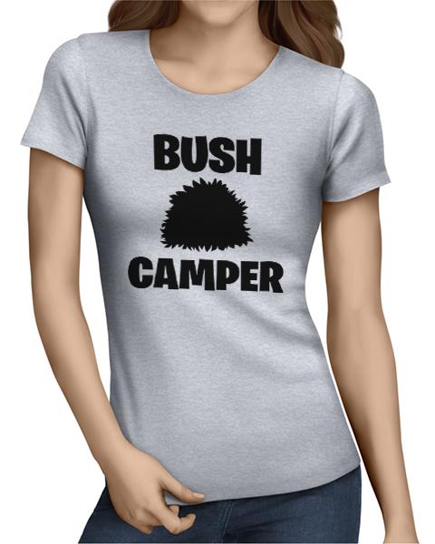 bush camper ladies tshirt grey