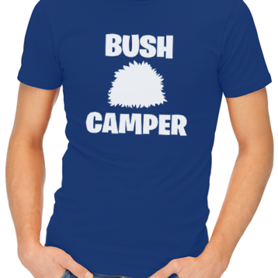bush camper mens tshirt blue