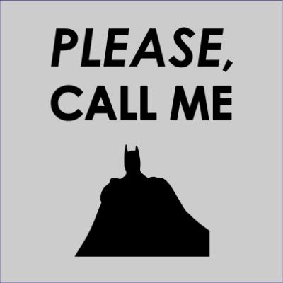 call me batman grey square