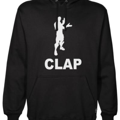 clap Black Hoodie
