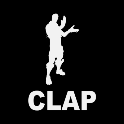 clap black square