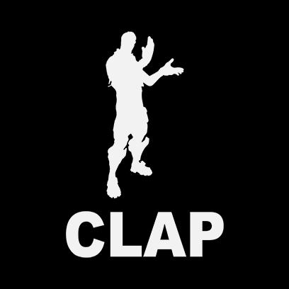 clap black square