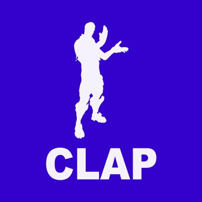 clap blue square
