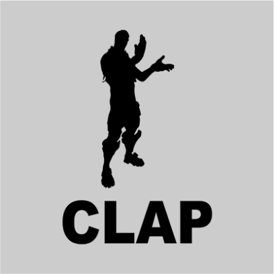 clap grey square
