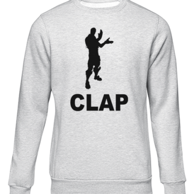clap grey sweater