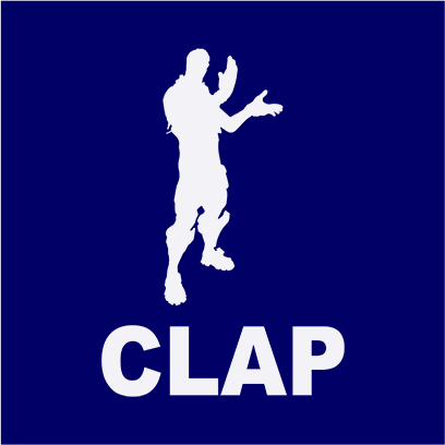 clap navy square