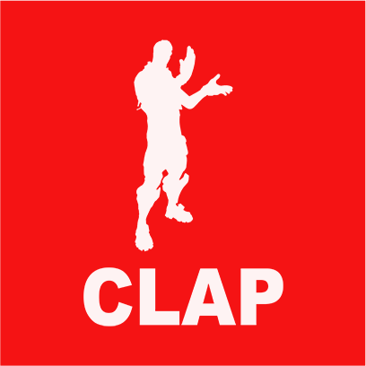 clap red square