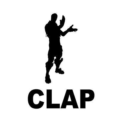 clap white square