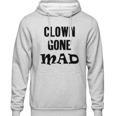 clown gone mad Grey Hoodie