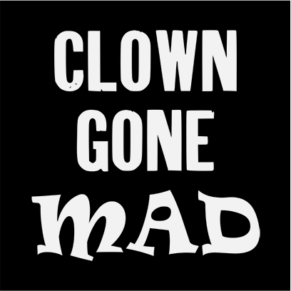 clown gone mad black square