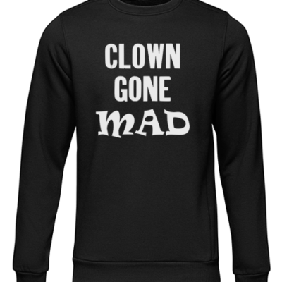 clown gone mad black sweater