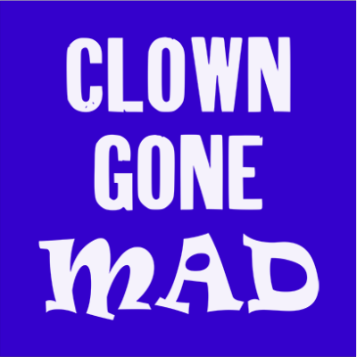 clown gone mad blue square