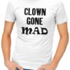 clown gone mad mens tshirt white