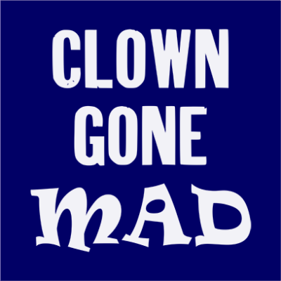 clown gone mad navy square