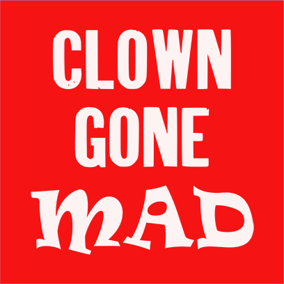 clown gone mad red square