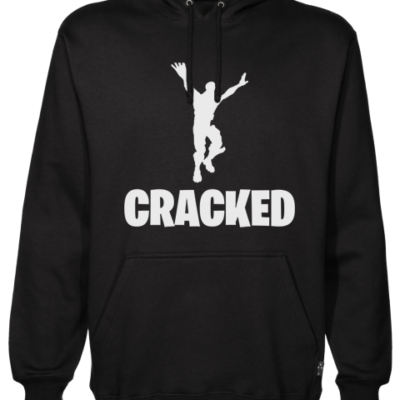 cracked Black Hoodie