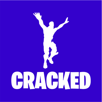 cracked blue square