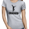 cracked ladies tshirt grey