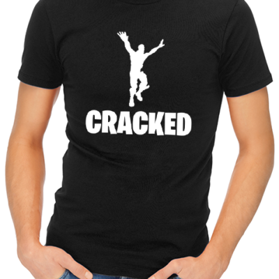 cracked mens tshirt black