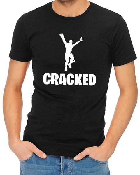 cracked mens tshirt black