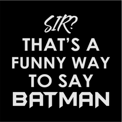 funny batman black square