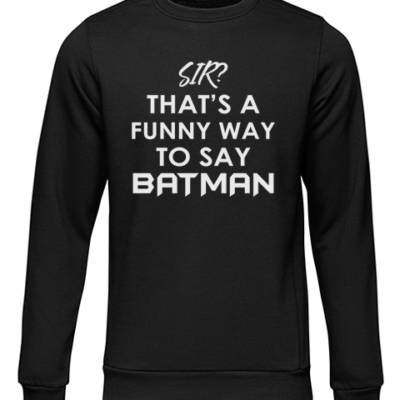 funny batman black sweater