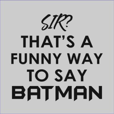 funny batman grey square