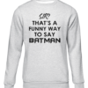 funny batman grey sweater