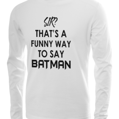 funny batman long sleeve white