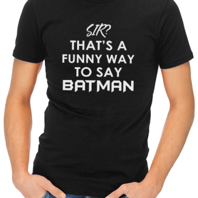 funny batman mens tshirt black
