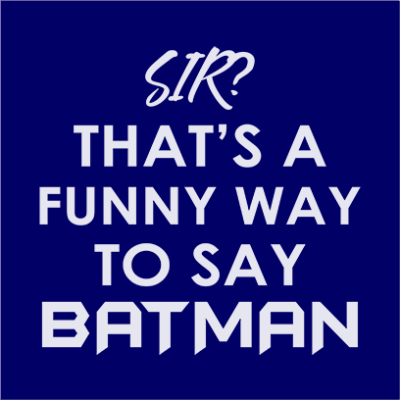 funny batman navy square