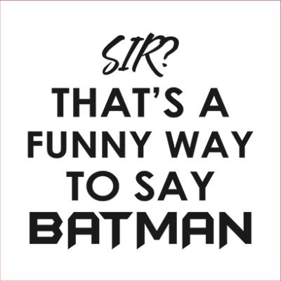 funny batman white square