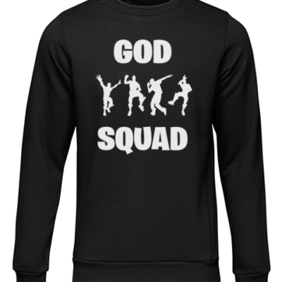 god sqaud black sweater