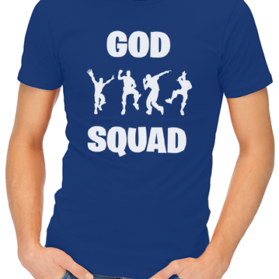 god sqaud mens tshirt blue