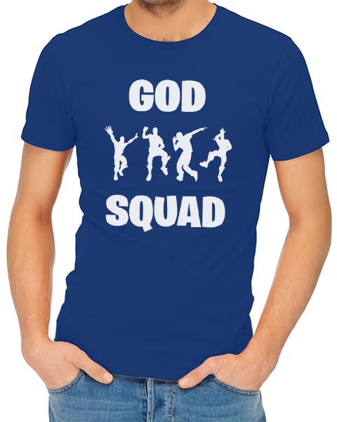 god sqaud mens tshirt blue