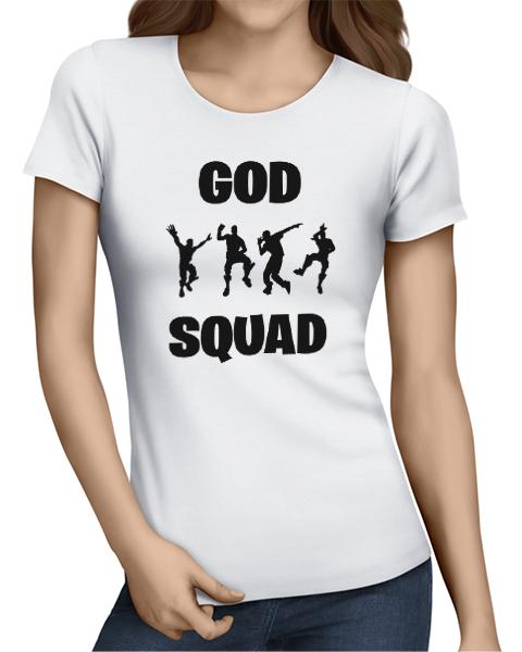 god squad ladies tshirt white
