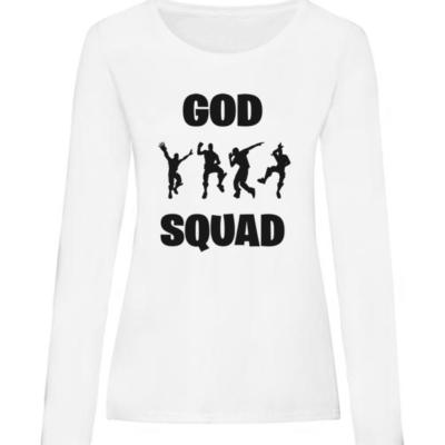 god squad ladies white long sleeve